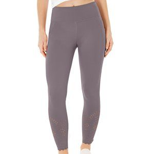 Ideology Womens Perforated Solid Ankle Leggings S